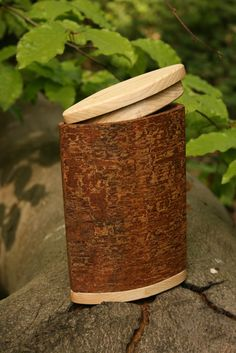 Beech Bark Container - An unusual type of bark to work with. Bushcraft Skills, Bushcraft Camping, Survival Tools, Wilderness Survival, Survival Stuff, Survival Life, Survival Prepping, Birch Bark Baskets, Wooden Containers