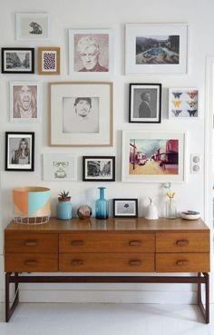 Gallery wall Ideas - A modern gallery wall of portrait artwork - Stranger Art