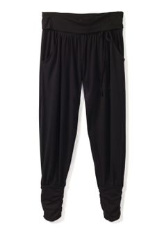 Long Harem Trousers in Black from hush