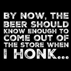Haha. Honk Honk... #beerhumor