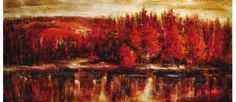 Red Dawn Canvas Painting