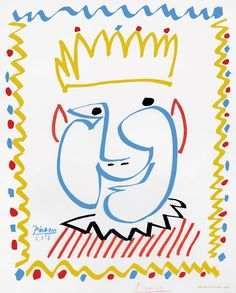 Buy online, view images and see past prices for Original Vintage Pablo Picasso Gallery Poster - Le Roi du Carnaval de Nice Invaluable is the world's largest marketplace for art, antiques, and collectibles. Pablo Picasso, Picasso Art, Graphic Prints, Poster Prints, Art Prints, Cubist Movement, Ecole Art, Original Vintage, Georges Braque