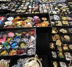 Flea market jewelry bins ...