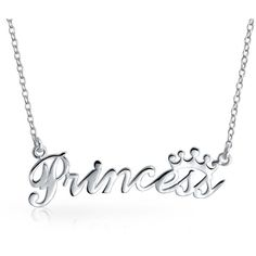 Bling Jewelry Pretty Princess ($27) ❤ liked on Polyvore featuring jewelry, necklaces, grey, necklaces pendants, pendant-necklaces, sterling silver necklaces, grey jewelry, sterling silver pendant, sterling silver jewelry and grey necklace