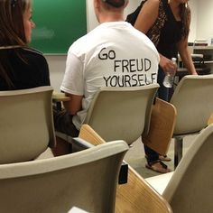 This guy's T-shirt. | 24 Things Only Psychology Nerds Will Find Funny