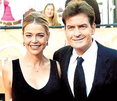 Charlie Sheen and Denise Richards had each other's names tattooed on their body. Sheen got 'Denise' in black writing on his wrist, while Richards had 'Charlie' etched onto her ankle.