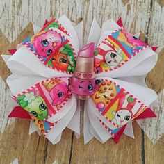 Check out this item in my Etsy shop https://www.etsy.com/listing/291352035/shopkins-45-hair-bow