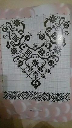 Cross Stitch Embroidery, Embroidery Patterns, Cross Stitch Patterns, Monochrom, Needlework, Diy And Crafts, Projects To Try, Knitting, Crochet