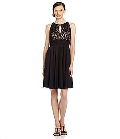 Jessica Howard Lace Keyhole Dress #Dillards