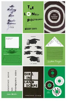 Designed by Jenny Volvoski, who finishes a book and designs a cover for it based on her interpretation.