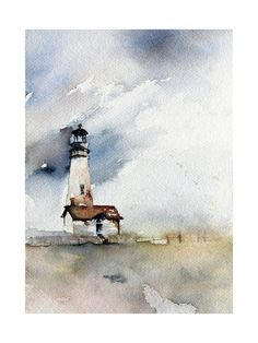 Stormy blue sky —  Solitary Watch Art Print - Limited Edition by Karen Kaul | Minted