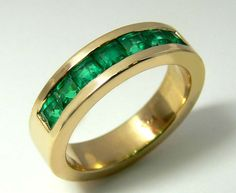 Incredible Colombian Emerald Unisex Ring by JRColombianEmeralds, $4212.00