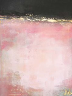 Anahi DeCanio abstract art - Original Fine art mixed media abstract landscape paintings by Anahi DeCanio - ArtyZen Studios Art Licensing - Paintings - arte abstracto - pink and gold
