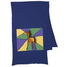 Awesome Colorful Horse Folk Art Scarf #horse #scarf #art #folkart #gifts #animals And www.zazzle.com/tickleyourfunnybone*