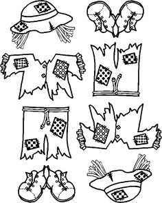 This is a picture of Légend Scarecrow Pattern Printable