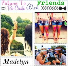 """""""Pictures To Re-Create With Friends This Summer"""" by the-tipp-sisters on Polyvore"""