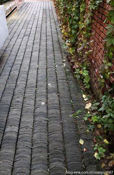北京红砖美术馆(三)--灰砖的艺术 Chinese Courtyard, Chinese Garden, Garden Floor, Garden Paving, Contemporary Tile, Contemporary Architecture, Landscape Design, Garden Design, Pavement Design