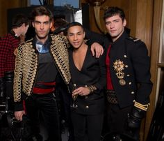 """Jon Kortajarena and Sean O`Pry  look great in Balmain's show. But Olivier Rousteing reminds me to """"Falete"""""""