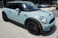2013 MINI Cooper S Hardtop in Ice Blue with matching roof and mirror caps #MINIbaltimore