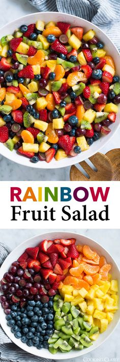 Honey Lime Rainbow Fruit Salad - Cooking Classy