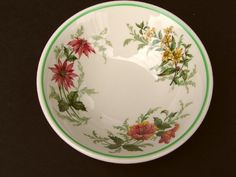 "Atlantic Coast Line Railroad China ""Flora of the South"" Oatmeal Bowl from timestreasures on Ruby Lane"