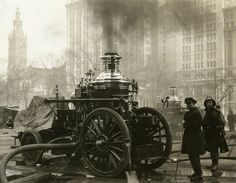 N.Y. Fire Department, Engine Pumping, 1914, photograph by Frederick H. Smyth, no. 244712, PR 065. NYHS Image #83375d