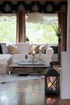 earth tones / home decor ideas / living room Cozy Living, My Living Room, Home And Living, Living Room Decor, Living Spaces, Interior Desing, Interior Exterior, Home Interior, Style At Home