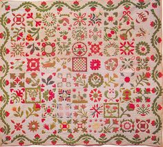 Presentation Sampler, 1862. Made by the Ladies of the West New Hempstead Reformed Church for Pastor Peter Allen. Rockland Co, New York.