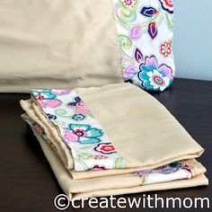 Create with mom: Making pillowcases