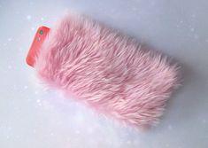 Furry iPhone Case, moelleux iPhone 6 s manche cas, fourrure iPhone 6 Plus cas étui, Etui de téléphone rose Kawaii, moelleux iPhone 5 s cas, fourrure rose