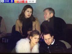 Dasha Zhukova with Roman Abramovich. Karlie Kloss and Derek Blasberg sitting in front 07/02/16 chelsea