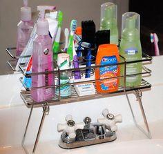 BATHROOM ORGANIZING SOLUTIONS - Over The Sink Bathroom Organizer