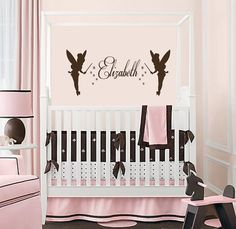 Housewares Vinyl Decal Custom Personal Name with Tinkerbells Home Wall Art Decor Removable Stylish Sticker Mural Unique Design for Baby Girl Nursery Room Animal Wall Decals, Vinyl Wall Decals, Girl Nursery, Nursery Room, Nursery Ideas, Room Ideas, Girl Room, Nursery Decor, Bedroom