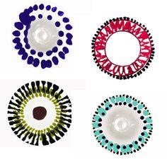 Chouette, les nouvelles assiettes Paola Navone pour Merci ! Paola Navone, Deco, Ceramic Pottery, A Table, Wax, Textiles, Plates, Tableware, Frame