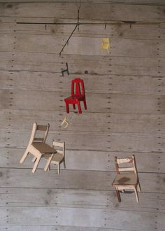 Tiny Chairs Mobile by Balance529 on Etsy, $150.00