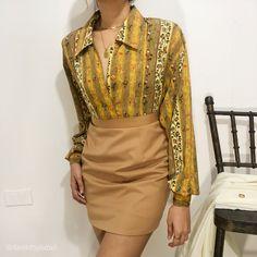 Floral Button Up, Vintage Tops, February, Sari, Fashion, Saree, Moda, Fashion Styles, Fashion Illustrations