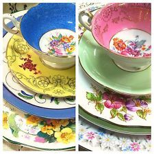 Perfectly Mismatched Vintage China Wedding Place Settings Eclectic