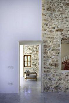 beautiful house on Formentera #stone #walls
