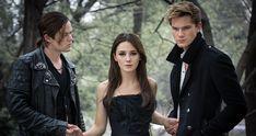 Harrison Gilbertson, Addison Timlin, and Jeremy Irvine in 'Fallen'