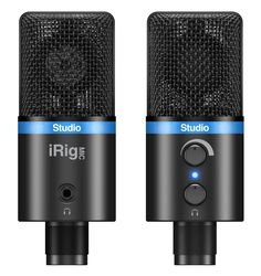 IK Multimedia | iRig Mic Studio - Large-diaphragm digital condenser microphone for iPhone, iPod touch, iPad, Android and Mac/PC