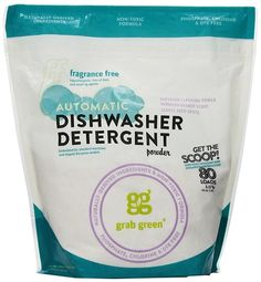 Grab Green Automatic Dishwashing Detergents Fragrance-Free Concentrated Powder with Scoop 80 Loads (a) - Best Dishwasher Detergent, Dishwasher Pods, Cleaning Hacks, Cleaning Supplies, Cleaning Products, Amazon Products, Powder Laundry Detergent, Laundry Powder, Laundry Room