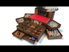 Portable Painting Station - YouTube