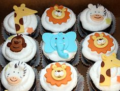 Safari themed cupcakes - These are perfection