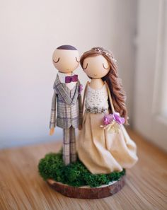 Rustic Wedding Cake Topper,Cake Topper,Wooden Topper,Wooden Peg Doll,Wedding Gift,Personalized,Boho wedding cake topper by theroomba on Etsy https://www.etsy.com/listing/290298797/rustic-wedding-cake-toppercake