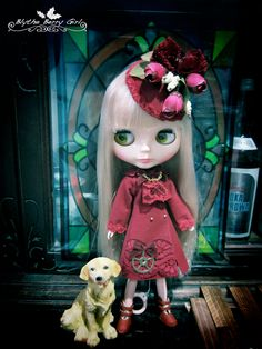 Blythe red rose maiden romantic steam punk by BlytheBerryGirl
