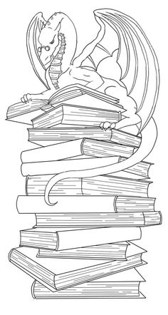 dragon bookmark lineart by Ankaraven on DeviantArt Coloring Pages To Print, Coloring Pages For Kids, Dragon Line, Tiny Dragon, Dragon Coloring Page, Concept Draw, Tattoo Signs, My Bookmarks, Madhubani Art