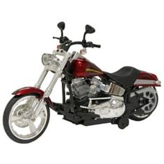 New Bright RC 12-in. Soft Tail Harley Davidson Motorcycle