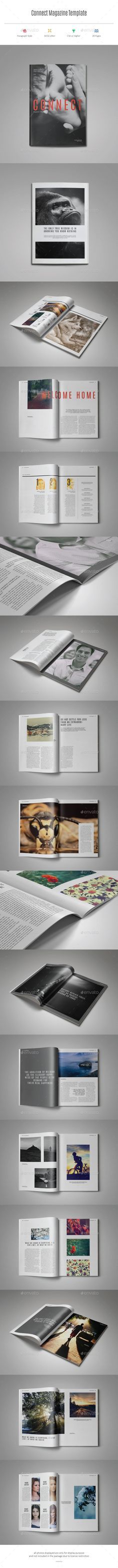Connect Magazine Template #design #journal Download: http://graphicriver.net/item/connect-magazine-template/11466844?ref=ksioks