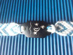 Flechtarmbänder - Armband Marina handgeknüpft Mond und Sterne - ein Designerstück von schmuckeHexe bei DaWanda Designer, Etsy, Bracelets, Jewelry, Braided Bracelets, Braid, Weaving, Wristlets, Bangles