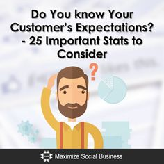 Do You know Your Customer's Expectations? - 25 Important Stats to Consider Customer Experience Marketing Business Articles, Business Advice, Online Marketing, Social Media Marketing, Know Your Customer, Social Media Trends, Social Business, Pinterest For Business, Influencer Marketing